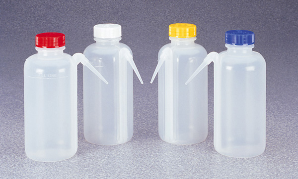 Blank Azlon 174 Wide Neck Wash Bottles With Spill Free System