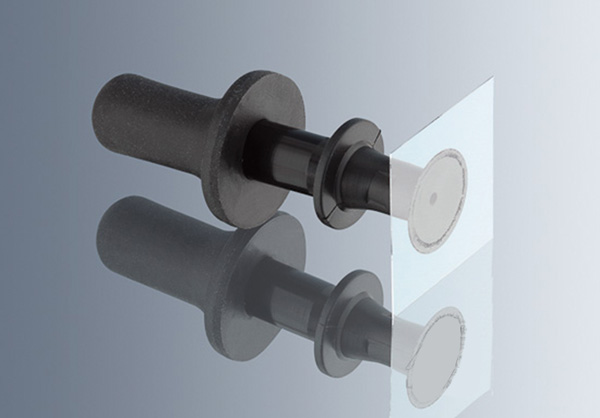 Suction cup for slide and cover slip