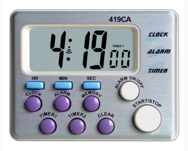 Timer with 3 channels (1 up counter / 2 down counters)