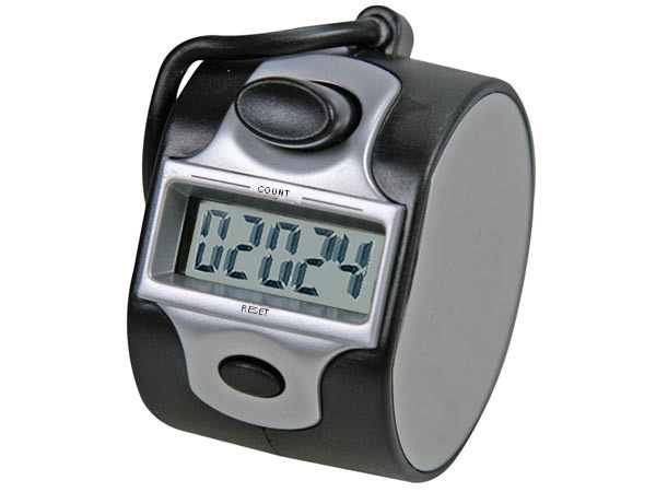 Pulse counter with digital display