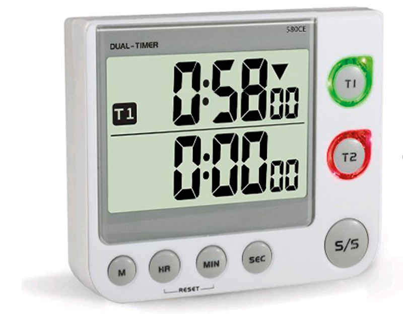 Double display digital count up/down timer