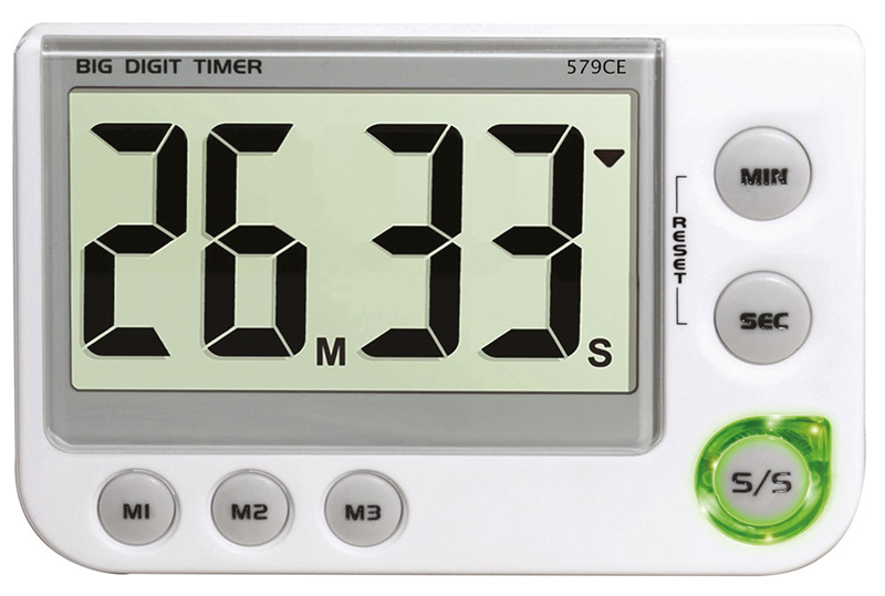 Digital count up / down timer - 3 memories