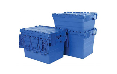 Polypropylene attached lid containers
