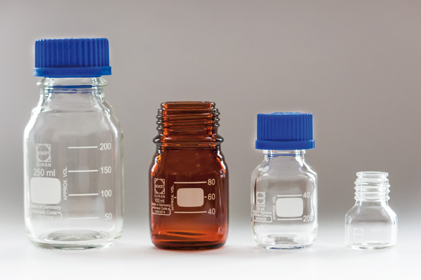 Schott Glass Bottles Glass Flasks And Caps Glassware