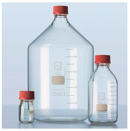 DURAN GL45 full laboratory bottles with special high temperature closure
