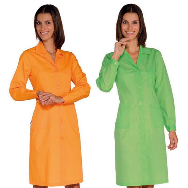 Polyester-cotton colour lab coats