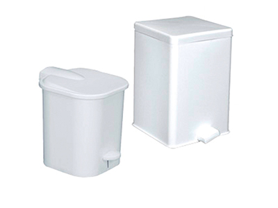 Polypropylene round or square dustbins with pedal
