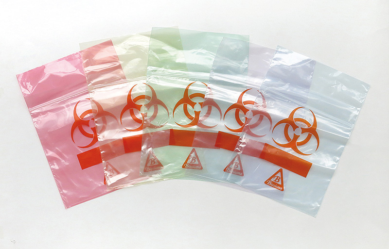 ClearLine® Specimen bags with orange Biohazard