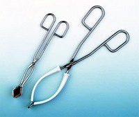 Stainless steel forceps for flasks and beakers